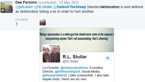Defamatin and slander defined by Dee and RL Stollar