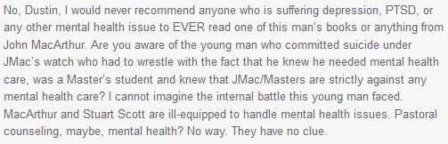 JAS -John MacArthur suicide