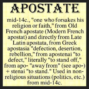 APOSTATE DEFINED