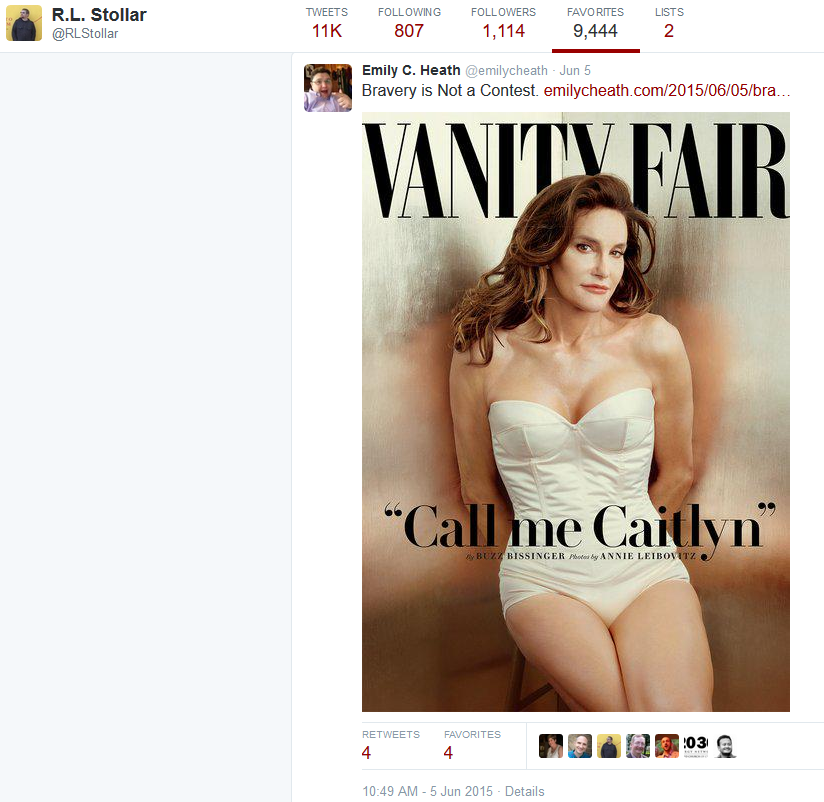 RL Stollar -fav Bruce Jenner sex change vanity fair cover picture