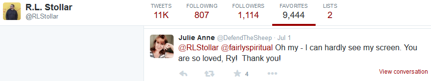 RL Stollar -fav Julie Anne Smith -so loved Ry