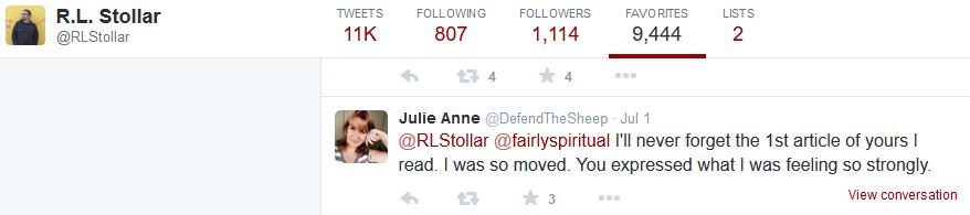 RL Stollar -fav Julie Anne Smith -so moved