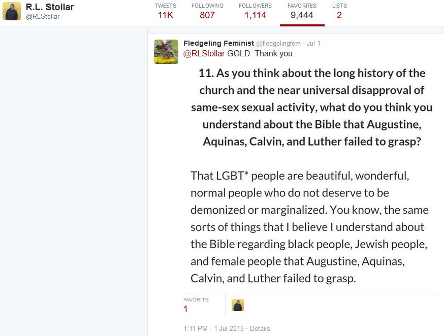 RL Stollar -fav LGBT promo tweet