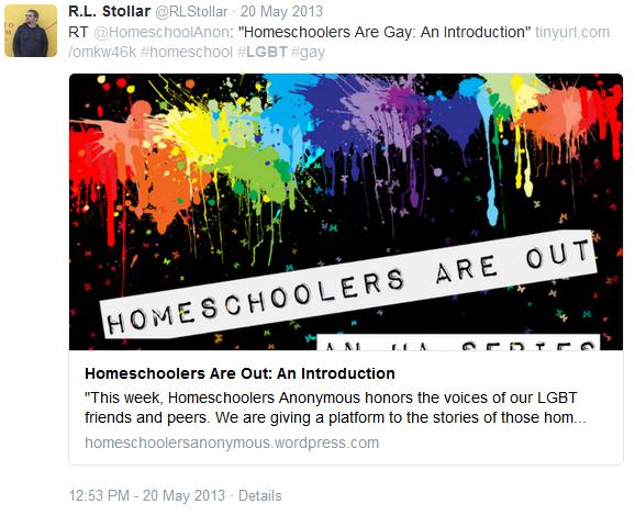 RL Stollar -homeschoolers anon LGBT promo